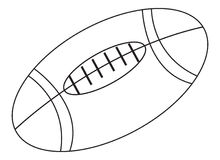 Football coloring page. Useful as coloring book for kids Royalty Free Stock Images