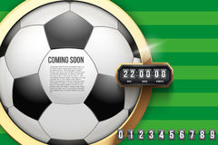 Football Coming Soon and countdown timer. Royalty Free Stock Images