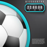 Football Coming Soon and countdown timer. Stock Photo