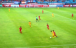 Football competition (blur effect photo). Football competition of league division 2 in Thailand (blur effect photo Royalty Free Stock Images