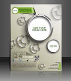 Football Competition Flyer royalty free illustration
