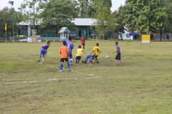 Football competition. Within rural,thailand Stock Image