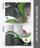 Football Competition Tri-Fold Brochure Stock Image