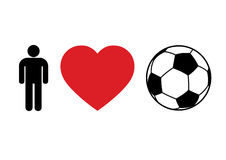 Football concept. Men Love Football for print or design Royalty Free Stock Photo