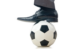 Football concept with businessman Stock Photo