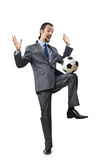Football concept with businessman Royalty Free Stock Photo