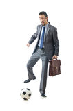 Football concept with businessman Stock Photos
