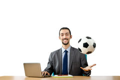 Football concept with businessman Royalty Free Stock Image