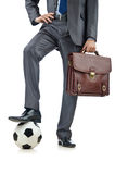 Football concept with businessman royalty free stock images