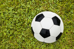 Football concept. Close  up of soccer ball Royalty Free Stock Image