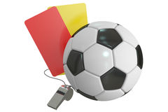Football concept, 3D rendering Royalty Free Stock Photos
