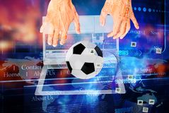 Football concept.industry sports.internet networking games royalty free stock photo