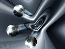 Football concept with silver background Royalty Free Stock Image