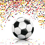 Football Confetti German Colors Royalty Free Stock Photography