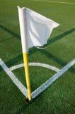 Football corner arc. And flag Stock Photography