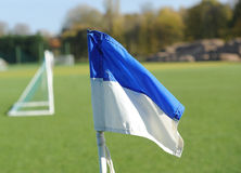 Football corner flag Stock Photos