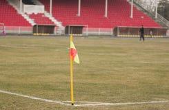 Football corner flag Stock Photography