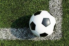 Football on corner Stock Photo