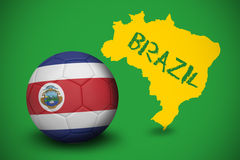 Football in costa rica colours Stock Image