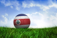 Football in costa rica colours Stock Photography