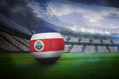 Football in costa rica colours Royalty Free Stock Image