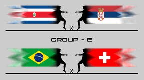 2018 Football Country Group – E Stock Photography
