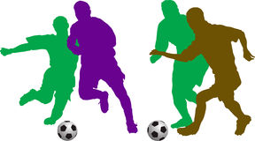 Football couples. Two different vector football couples Royalty Free Stock Photo