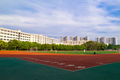 Football courts royalty free stock images