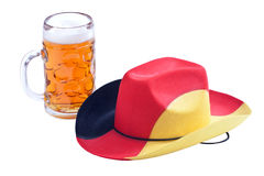 Football Cowboy Hat with beer Royalty Free Stock Photography