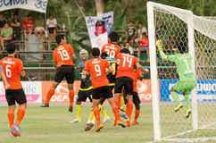 Football competition in Thailand Royalty Free Stock Photography