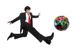 Football crazyness Royalty Free Stock Photo