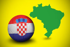 Football in croatia colours Royalty Free Stock Image