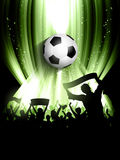Football crowd background Royalty Free Stock Images