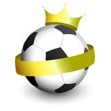 Football With a Crown Royalty Free Stock Images