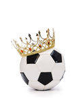 Football with crown Royalty Free Stock Photos