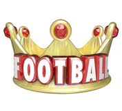 Football Crown Best Player Team WInner Victory Top Competitor stock illustration