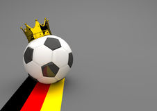 Football Crown Germany Stock Photography
