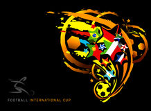Football cup. Abstract vector illustration for football cup Stock Photo