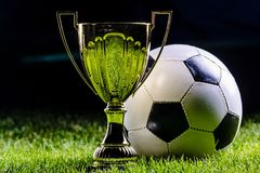 Football cup with football ball Royalty Free Stock Images