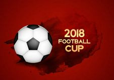 2018 Football Cup Sport Background Vector Illustration. EPS10 Royalty Free Stock Photography