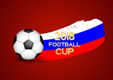 2018 Football Cup Sport Background Vector Illustration. EPS10 Royalty Free Stock Images