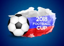 2018 Football Cup Sport Background Vector Illustration. EPS10 Royalty Free Stock Image