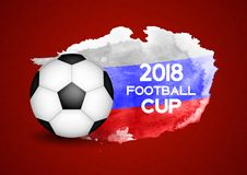 2018 Football Cup Sport Background Vector Illustration. EPS10 Stock Photography