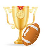 Football cup winner gold stock vector illustration Royalty Free Stock Photos