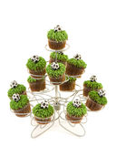 Football Cupcakes Royalty Free Stock Photo