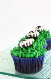 Football cupcakes Royalty Free Stock Images