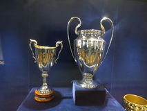 Football cups  Champions League. Premium Royalty Free Stock Image