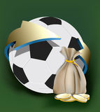 Football and currency Royalty Free Stock Photography