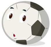 Football with cute face Stock Image