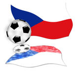 Football czech republic flag Royalty Free Stock Photos
